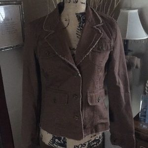 Maurice's brown jean jacket size medium